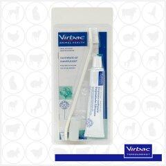 Virbac C.E.T.® Zahnpflegeset für Hunde 70g mit...